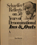 Schaeffer Reflects on Fifty Years of Denominational Ins and Outs